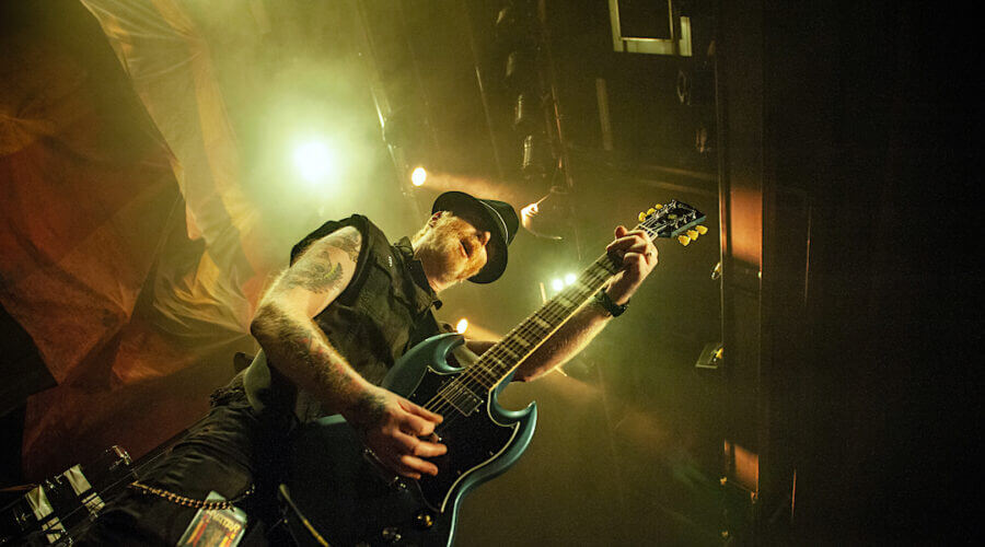 The Mahones' frontman Finny McConnell sheds his shamrock shackles