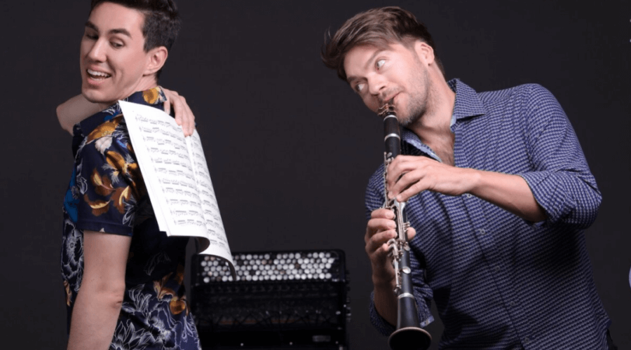 Music comedy duo offer mentorship to high school students pursuing the arts
