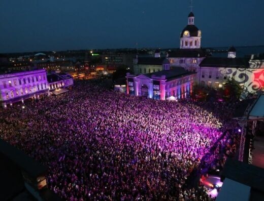 25,000 fans gather in Kingston's Springer Market Square for The Tragically Hip's farewell show, August 2016.