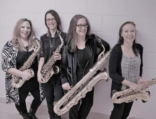 Kingston's The Saxobelles jazz quartet