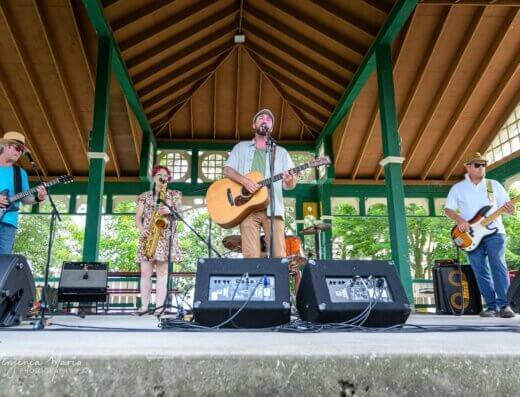 The Bon Evans Band plays Live Music Sundays at Finkle's Shore Park near Kingston