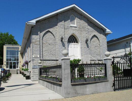 The exterior of Kingston's Renaissance Event Venue, the city's oldest surviving church structure built in 1837.