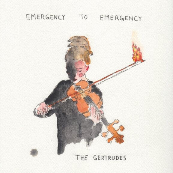 Cover artwork of The Gertrudes 2021 LP, Emergency to Emergency