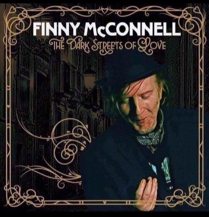 """Cover artwork for """"The Dark Streets of Love"""" music album by Finny McConnell"""